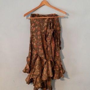 Dresses & Skirts - Gypsy style skirt wrap around 100% silk